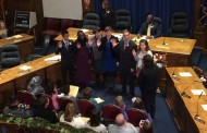 School Board Inauguration, Thompson Reelected Chair