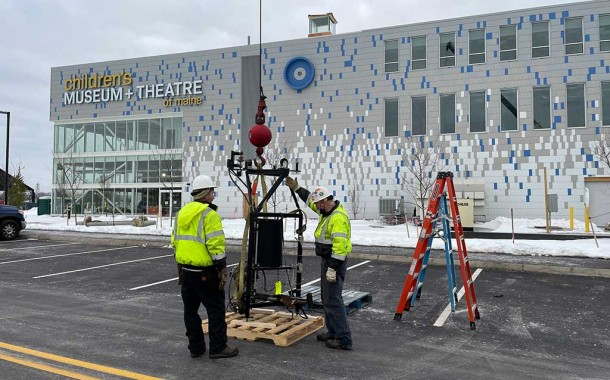 Children's Museum Installs Exhibits at New Location on Thompson's Point