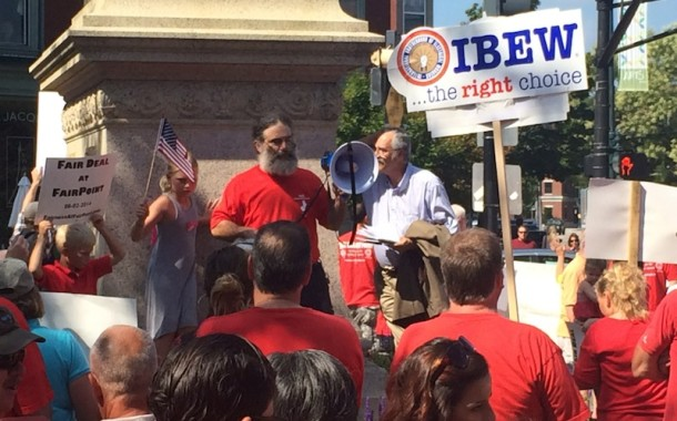 Labor Day Union Rally in Longfellow Square