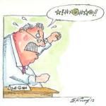 West End News - RCV and Maine Democracy - lepage cursing cartoon