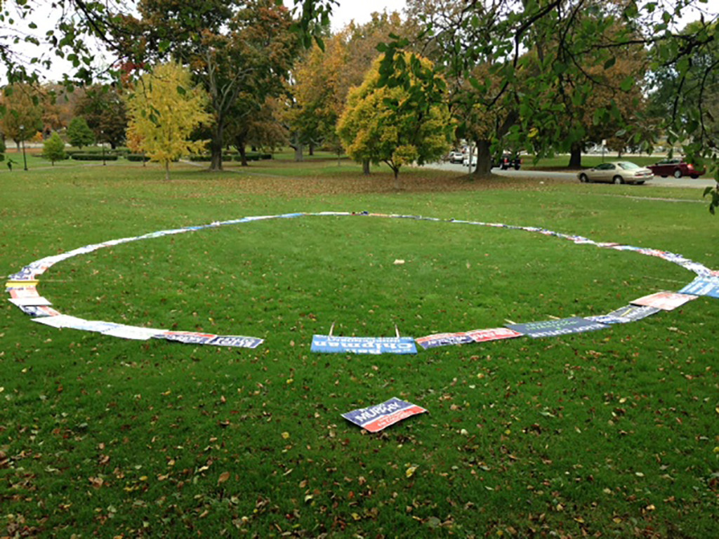 Stolen Campaign Signs Circle