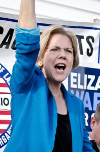 """Elizabeth Warren isn't actually that progressive.""  -Photo by Tim Pierce, https://www.flickr.com/photos/qwrrty/8152000438/."
