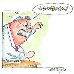 LePage Cursing Cartoon, by Ed King