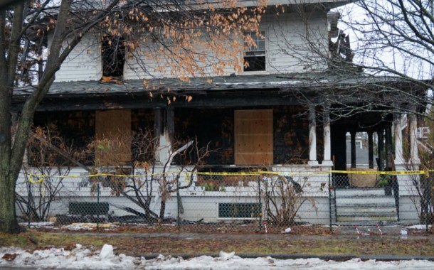 Smoldering Cigarette Recepticle Caused Noyes Street Fire