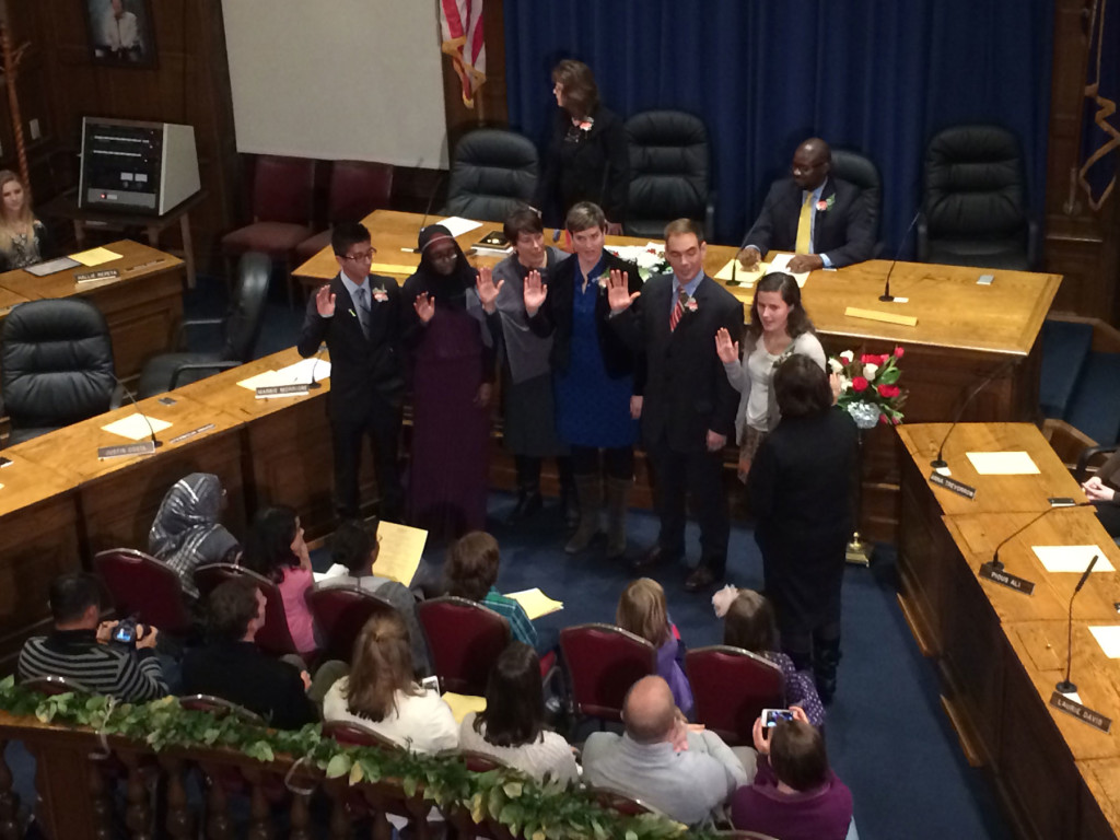School Board new members take oath.
