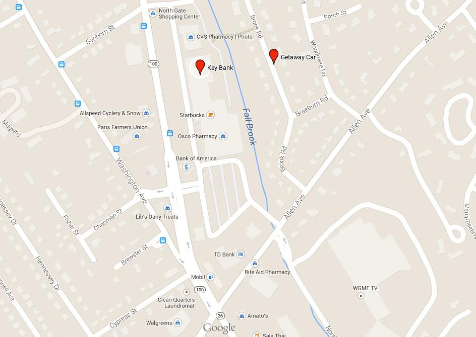Google Map of Getaway Car