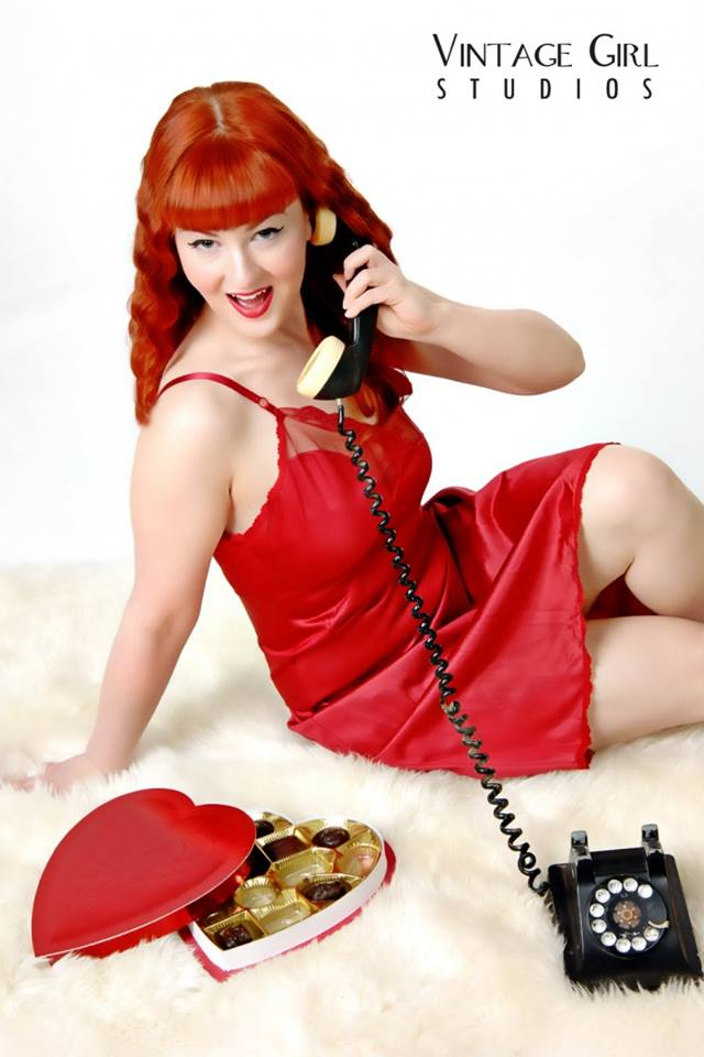Publicity photo for Holly Danger's Valentine's Day Burlesque.