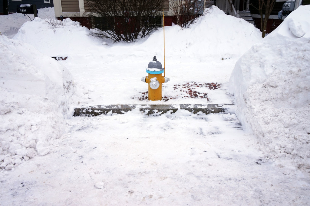 Fire hydrant dug out from snow in West End