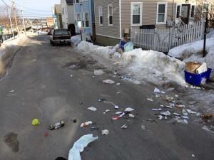 Trash in Winter