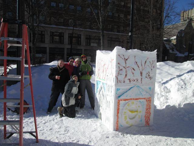 WENA Snow Scuplture