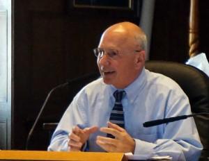 Mayor Brennan testifies before the Finance Committee.