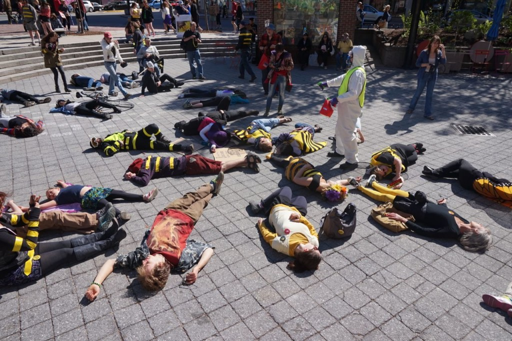 March Against Monsanto Bee Die-in