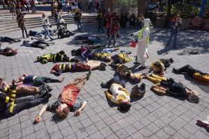 West End News - Colony Collapse Disorder - March Against Monsanto Bee Die-in