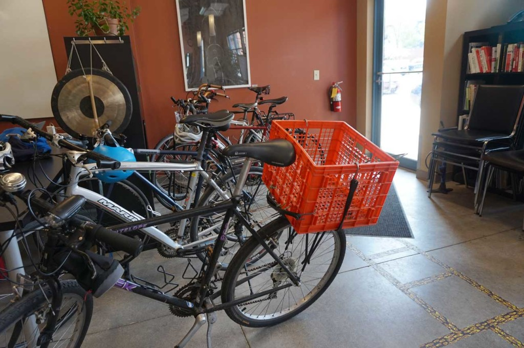 Bikes parked at Peloton Labs