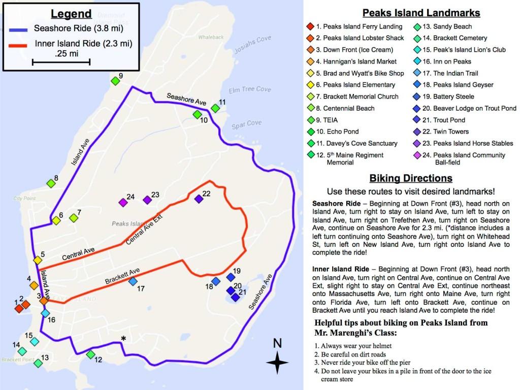 Peaks Island Bike Map