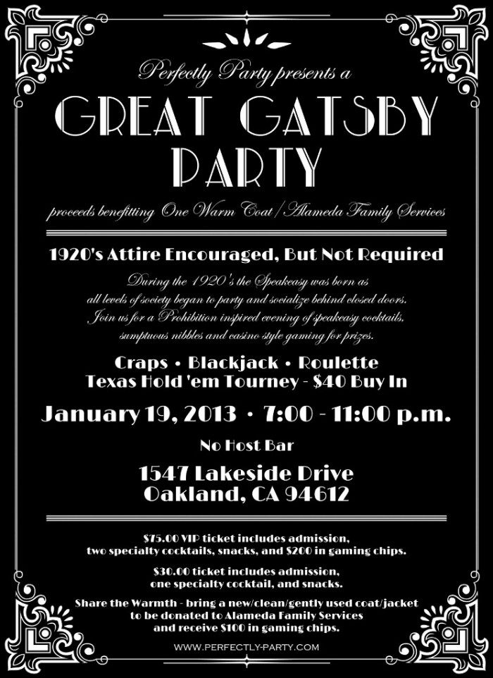 Great Gatsby Party Invitations is one of our best ideas you might choose for invitation design