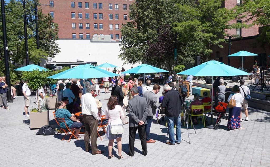 Congress Square Park Placemaking event. 6/24/15.