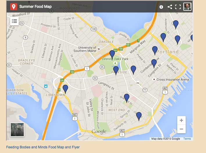 Summer Food Map