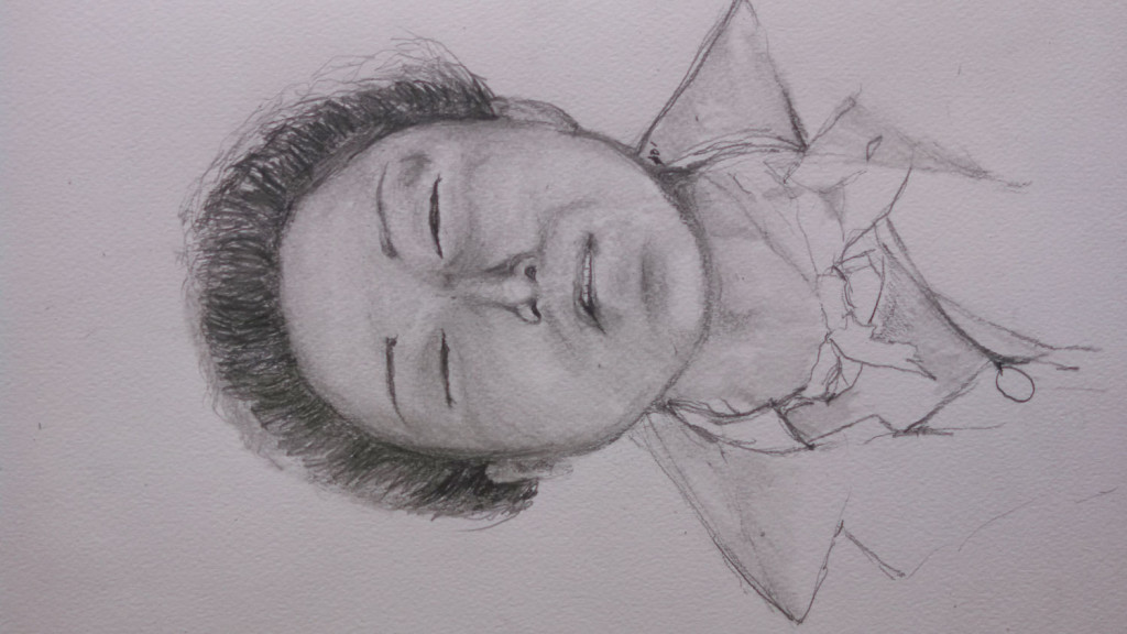 Sketch of unidentified woman. Courtesy of Portland Police.