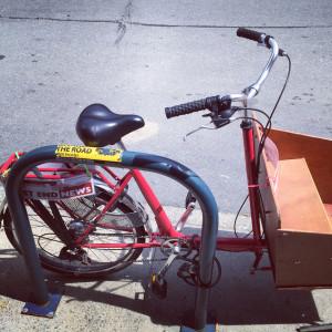 West End News Cargo Bike in Bayside