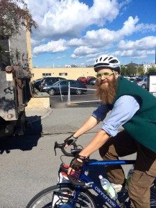 Asher Platts on bike