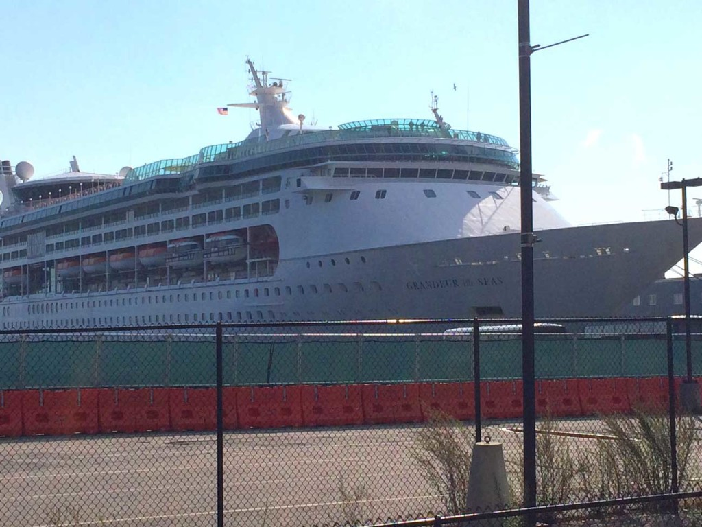 Grandeur of the Sea docked in Portland in October 2014.