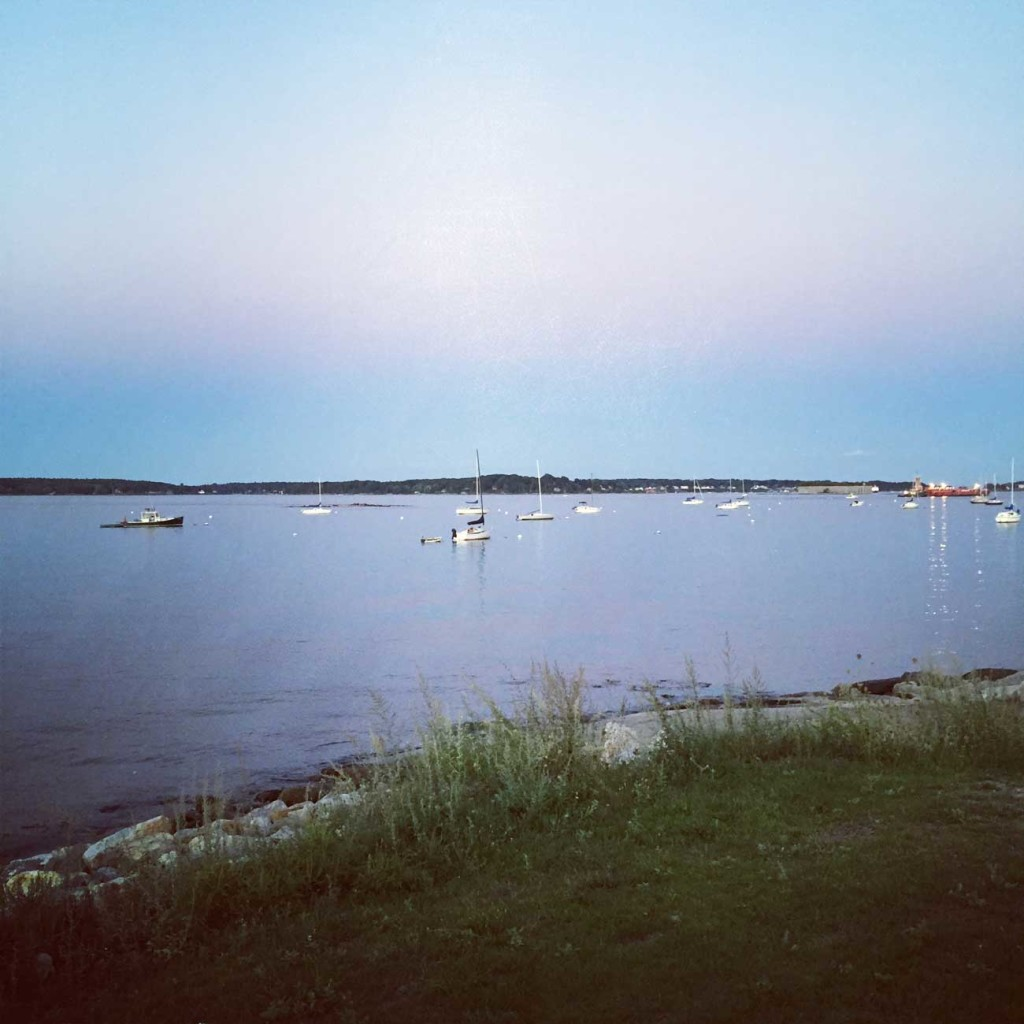 Eastern Prom view of boats in harbor