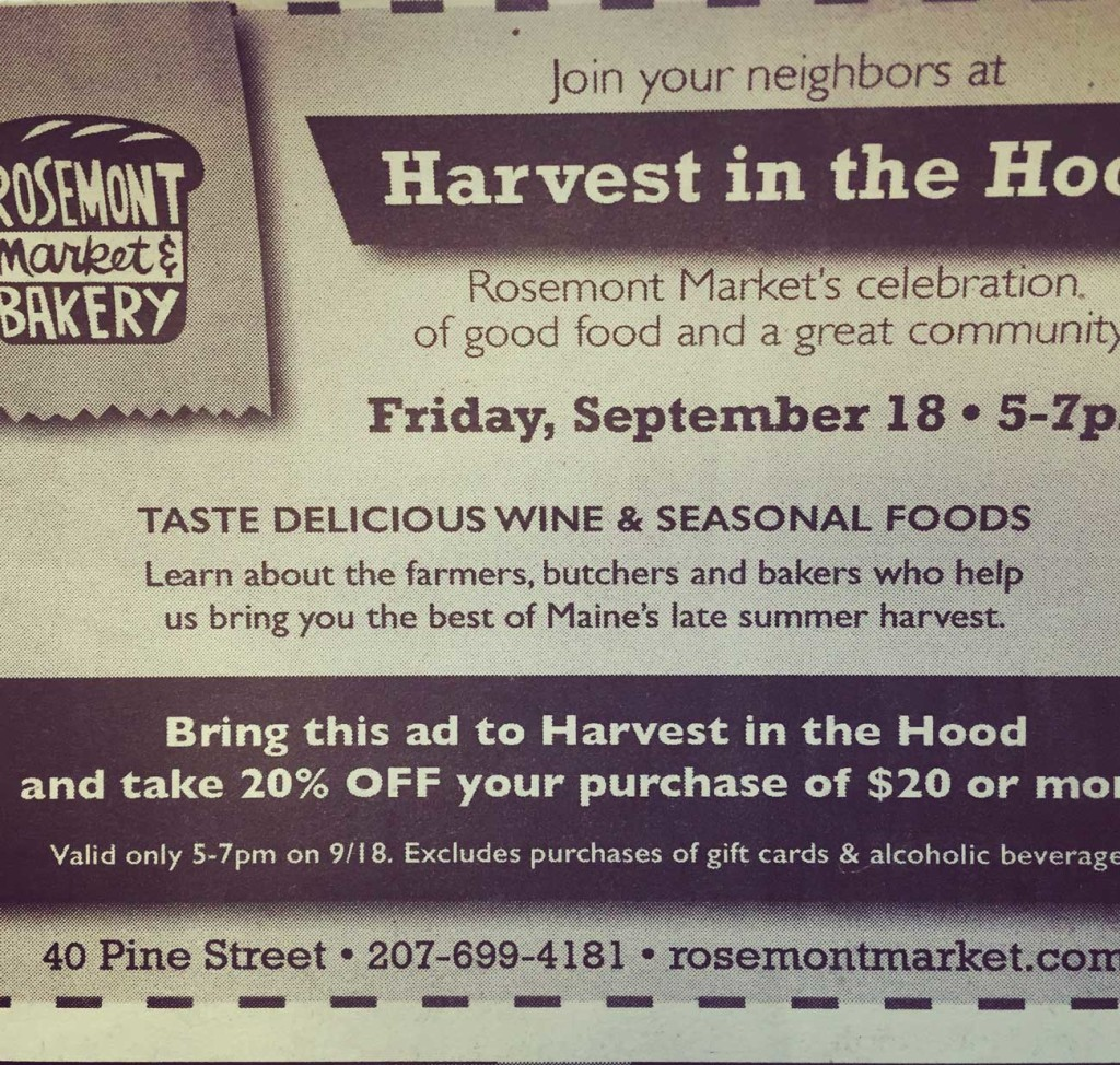 Harvest in the Hood Coupon
