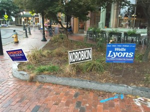 Signs of D2 Candidates near Longfellow Square.