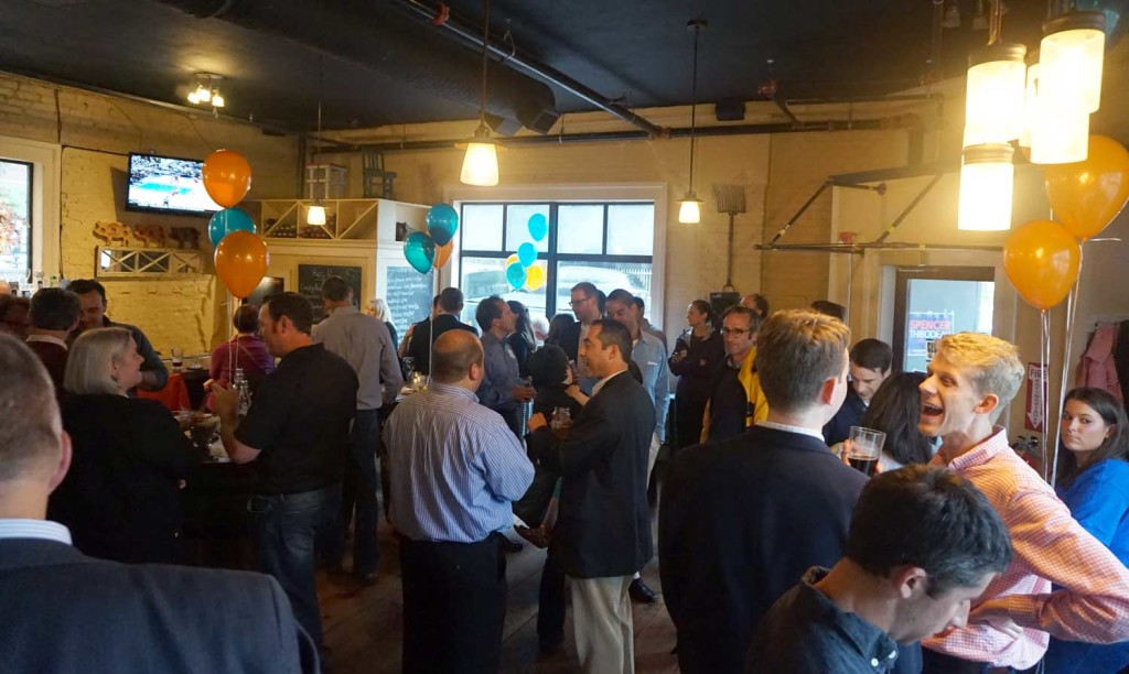 Campaign kickoff event at Little Tap House for Spencer Thibodeau. June 2015.