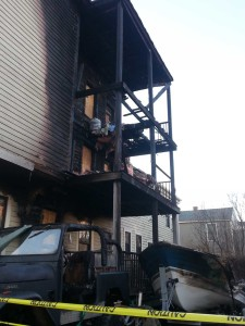 fire damage at 165 brackett