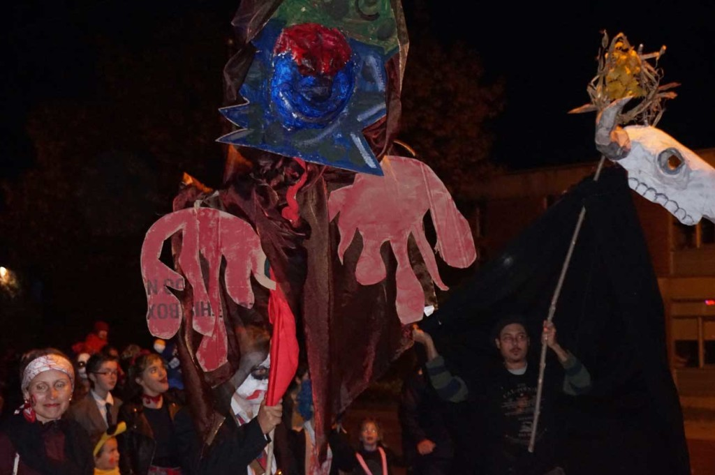 Halloween parade puppets