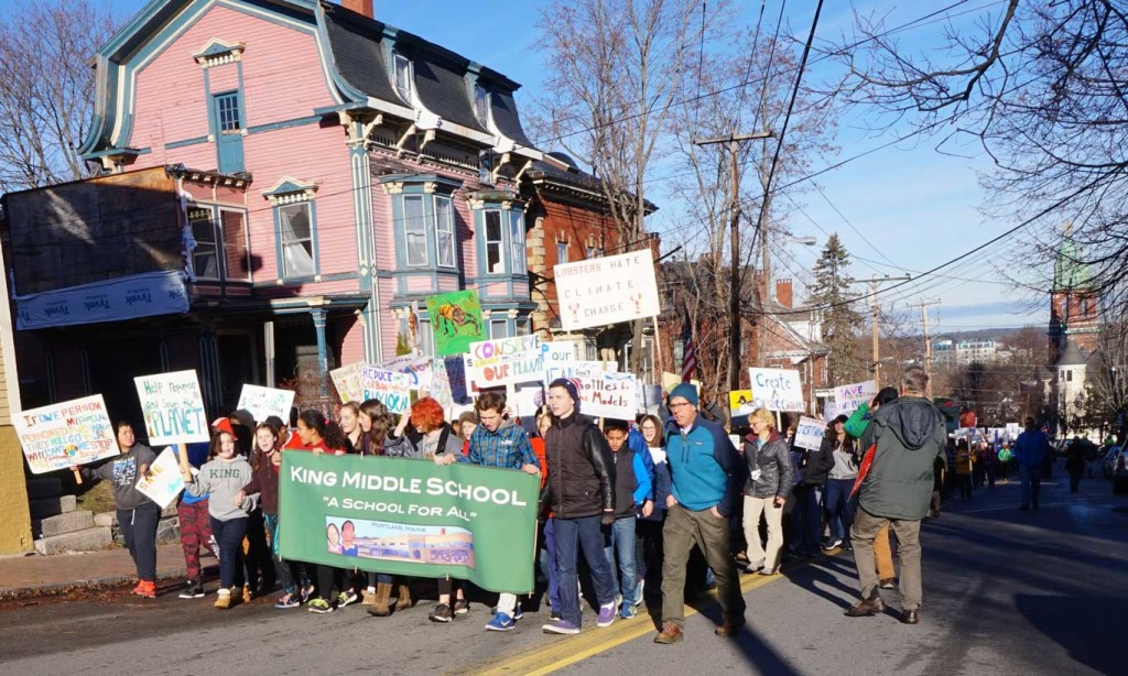 King Middle Climate March