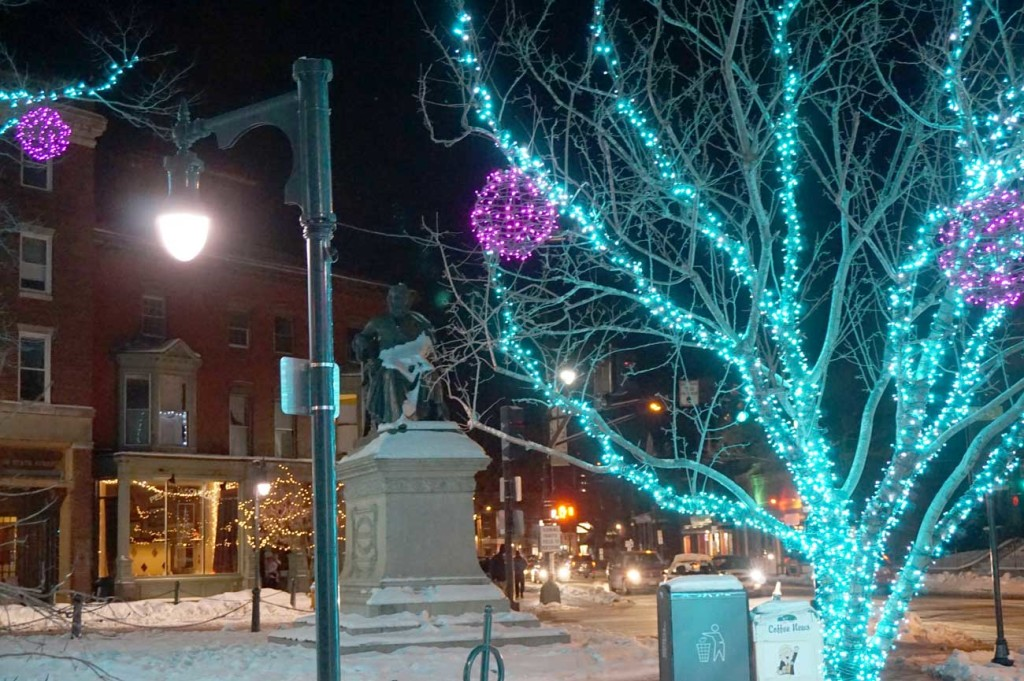 Longfellow Square at Christmas