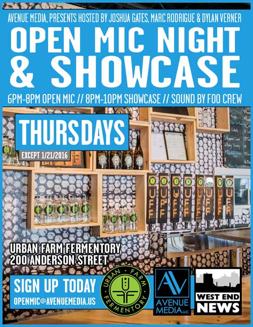 Open Mic Night at Urban Farm Fermentory