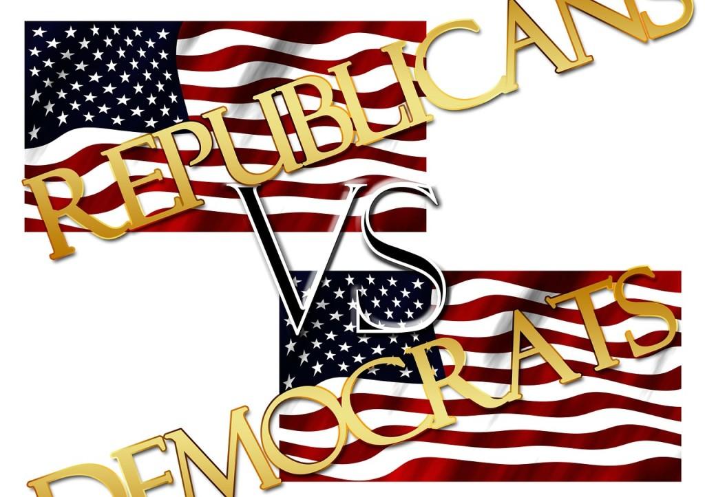 Republican vs Democrat Flags