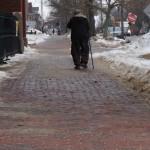 Winter Snow Operatios - On Remaining upright - treacherous city sidewalks