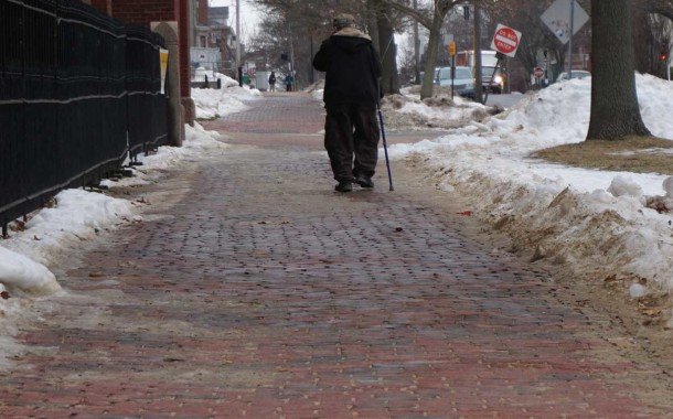 ON REMAINING UPRIGHT: Treacherous Sidewalks