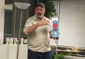 West End News, Sidewalk buttlers inventor Mike Roylos