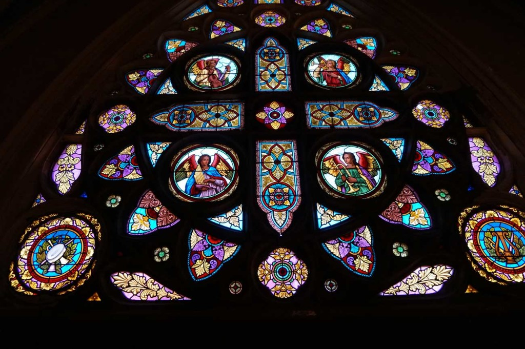 Vinny O'Malley New Director: St Dom stain glass window