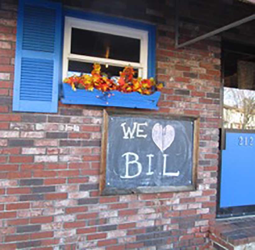 "West End News: Best Neighborhood: ""We Love Bil"" Sign"