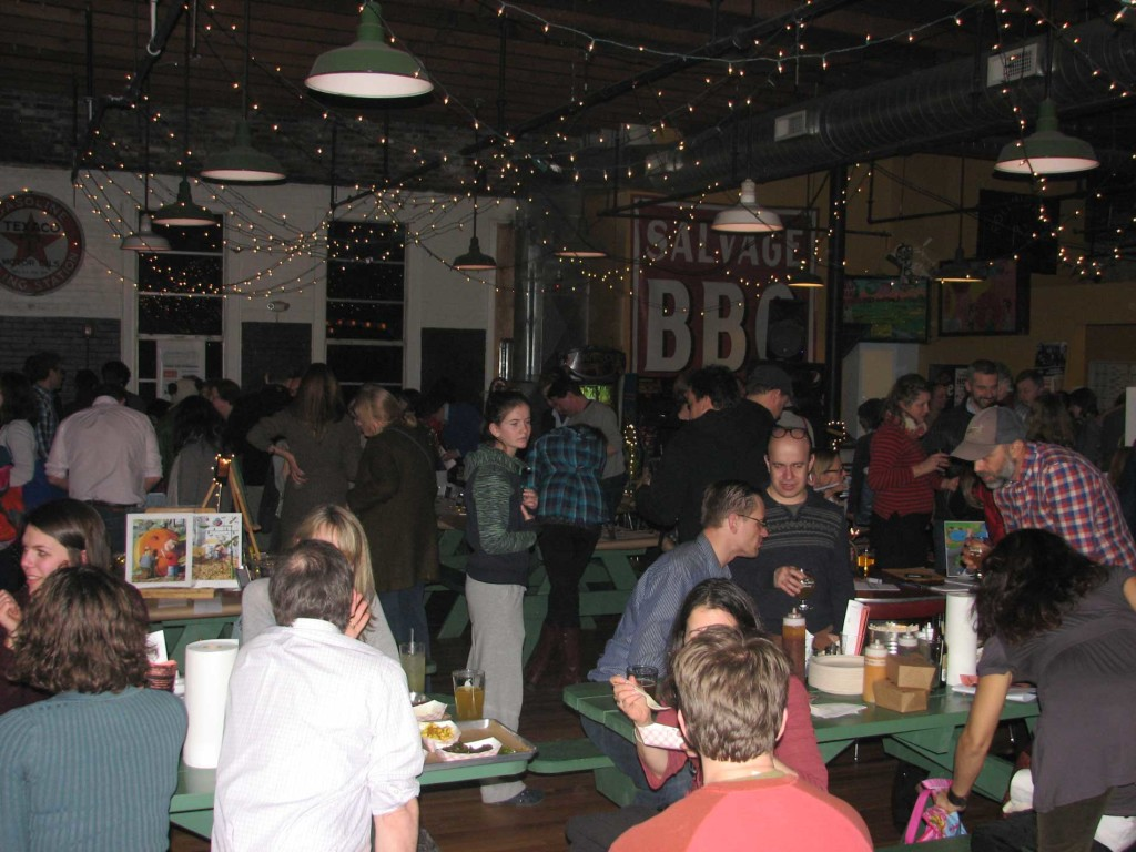 West End News: Reiche Auction at Salvage BBQ, Mar. 22. -Photo by Bridget Chase