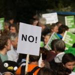 West End News: Progressive Bubble by Sam Pelletier, Protest stock photo