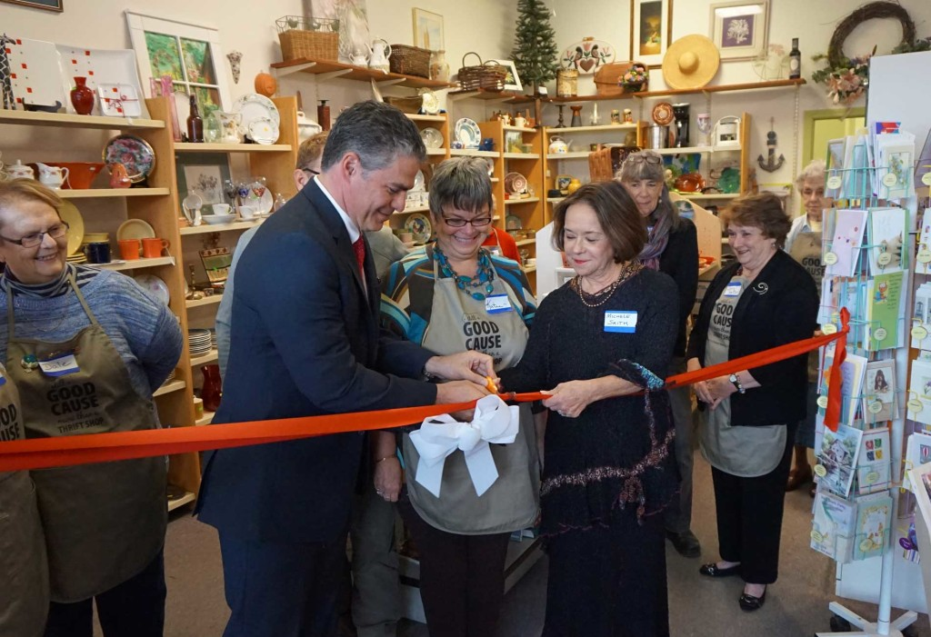 West End News: Portland Thrift Shop: Mayor Strimling Cuts Ribbon at Good Cause Thrift