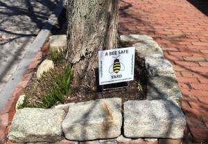 """West End News: Dumpster: Pesticide ordinance """"Be Safe"""" yard sign"""