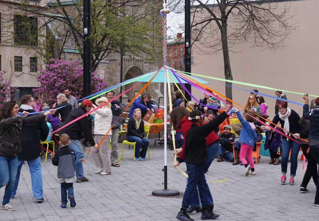 West End News: Congress Square Park: Maypole dancing