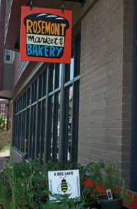 West End News: Bee safe sign in front of Rosemont West End location