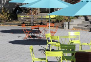West End News: To Run Congress Square Park: Tables and chairs