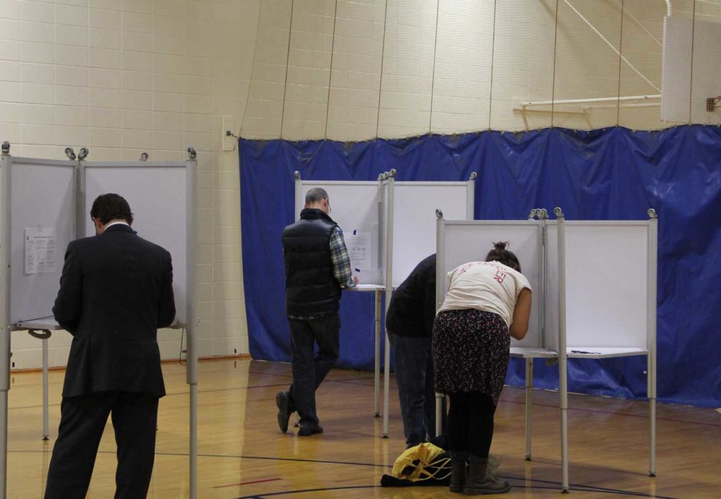 West End News: Election Day : Polling place voters
