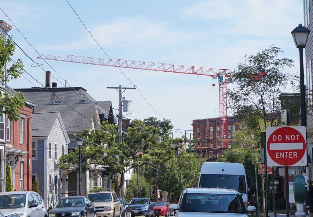 West End News - Gentrifying Portland - Construction crane